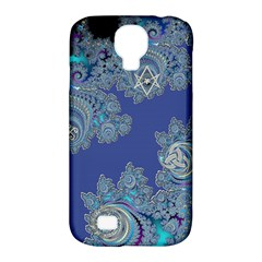 Blue Metallic Celtic Fractal Samsung Galaxy S4 Classic Hardshell Case (PC+Silicone)