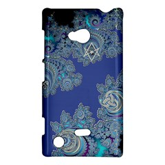 Blue Metallic Celtic Fractal Nokia Lumia 720 Hardshell Case