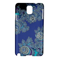 Blue Metallic Celtic Fractal Samsung Galaxy Note 3 N9005 Hardshell Case
