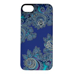 Blue Metallic Celtic Fractal Apple Iphone 5s Hardshell Case