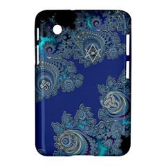 Blue Metallic Celtic Fractal Samsung Galaxy Tab 2 (7 ) P3100 Hardshell Case