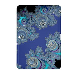 Blue Metallic Celtic Fractal Samsung Galaxy Tab 2 (10.1 ) P5100 Hardshell Case