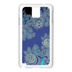 Blue Metallic Celtic Fractal Samsung Galaxy Note 3 Case (white)