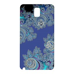 Blue Metallic Celtic Fractal Samsung Galaxy Note 3 Hardshell Back Case