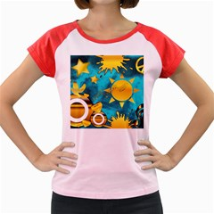 Musical Peace Women s Cap Sleeve T Shirt (colored)