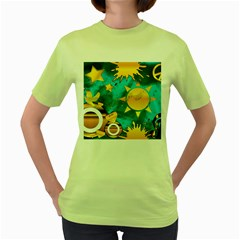 Musical Peace Women s T-shirt (Green)