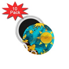Musical Peace 1.75  Button Magnet (10 pack)