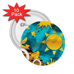 Musical Peace 2.25  Button (10 pack)