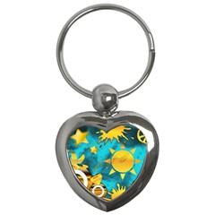 Musical Peace Key Chain (Heart)