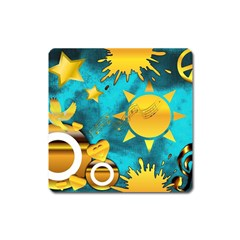 Musical Peace Magnet (square)