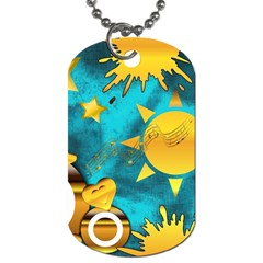 Musical Peace Dog Tag (Two-sided)