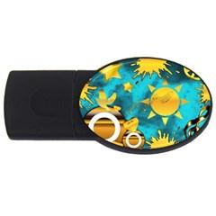 Musical Peace 2GB USB Flash Drive (Oval)