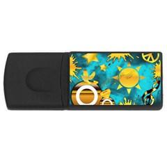 Musical Peace 1GB USB Flash Drive (Rectangle)