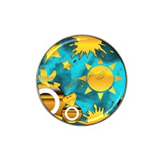 Musical Peace Golf Ball Marker 4 Pack (for Hat Clip)