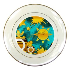 Musical Peace Porcelain Display Plate