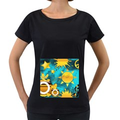 Musical Peace Women s Maternity T Shirt (black)