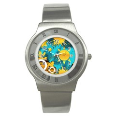 Musical Peace Stainless Steel Watch (slim)