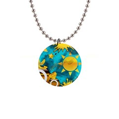 Musical Peace Button Necklace