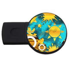 Musical Peace 4GB USB Flash Drive (Round)