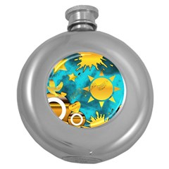 Musical Peace Hip Flask (Round)