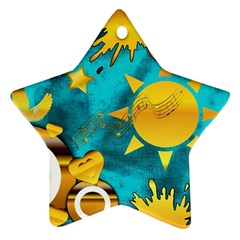 Musical Peace Star Ornament (Two Sides)