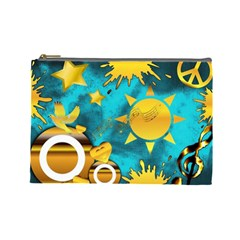 Musical Peace Cosmetic Bag (Large)