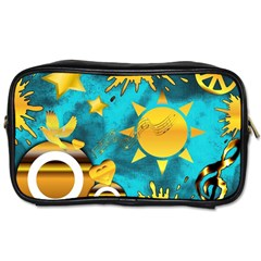 Musical Peace Travel Toiletry Bag (one Side)