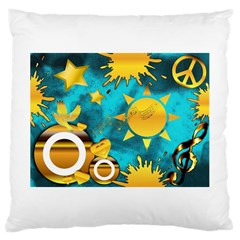Musical Peace Large Cushion Case (Two Sided)