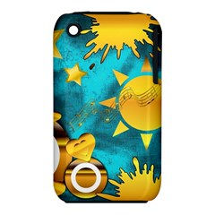 Musical Peace Apple Iphone 3g/3gs Hardshell Case (pc+silicone)