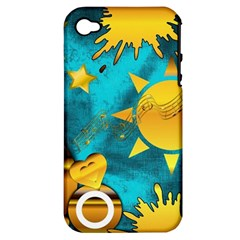 Musical Peace Apple iPhone 4/4S Hardshell Case (PC+Silicone)