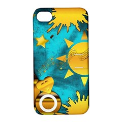 Musical Peace Apple Iphone 4/4s Hardshell Case With Stand
