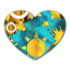 Musical Peace  Mouse Pad (Heart)