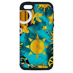 Musical Peace  Apple iPhone 5 Hardshell Case (PC+Silicone)