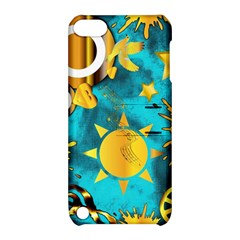 Musical Peace  Apple Ipod Touch 5 Hardshell Case With Stand