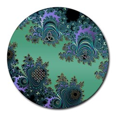 Celtic Symbolic Fractal 8  Mouse Pad (Round)