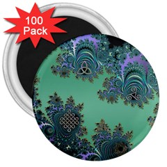 Celtic Symbolic Fractal 3  Button Magnet (100 pack)