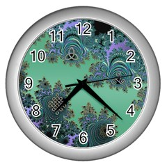 Celtic Symbolic Fractal Wall Clock (silver)