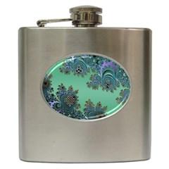 Celtic Symbolic Fractal Hip Flask