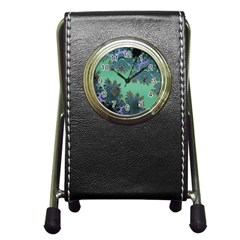 Celtic Symbolic Fractal Stationery Holder Clock