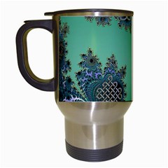 Celtic Symbolic Fractal Travel Mug (White)