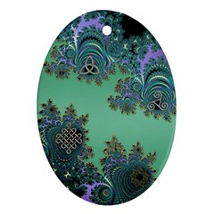 Celtic Symbolic Fractal Oval Ornament (Two Sides)