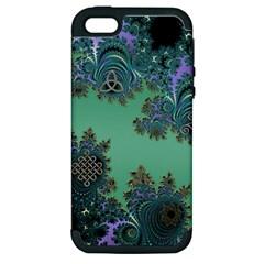 Celtic Symbolic Fractal Apple iPhone 5 Hardshell Case (PC+Silicone)