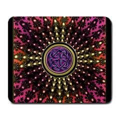Hot Lavender Celtic Fractal Framed Mandala Large Mouse Pad (rectangle)