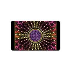 Hot Lavender Celtic Fractal Framed Mandala Magnet (name Card)