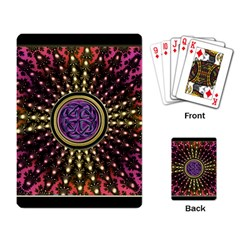 Hot Lavender Celtic Fractal Framed Mandala Playing Cards Single Design