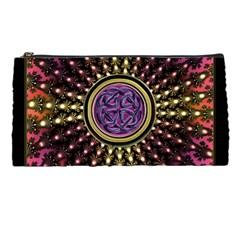 Hot Lavender Celtic Fractal Framed Mandala Pencil Case