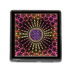 Hot Lavender Celtic Fractal Framed Mandala Memory Card Reader with Storage (Square)