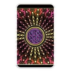 Hot Lavender Celtic Fractal Framed Mandala Memory Card Reader (Rectangular)