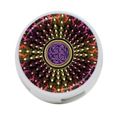 Hot Lavender Celtic Fractal Framed Mandala 4-Port USB Hub (Two Sides)