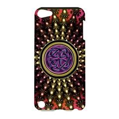 Hot Lavender Celtic Fractal Framed Mandala Apple iPod Touch 5 Hardshell Case